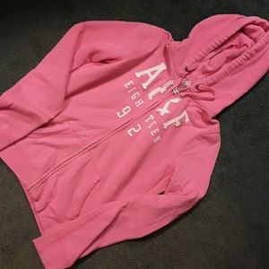 Abercrombie & Fitch size m pink zip-front hoodie